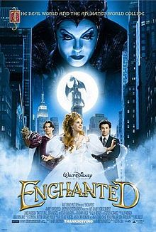 "Poster art for ""Enchanted"" is property of Walt Disney Co."
