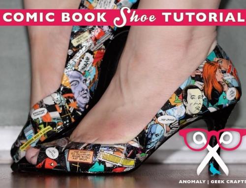 Geek Crafts | Decoupaged Comic Book Shoes Tutorial