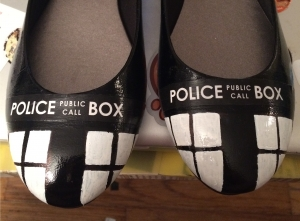 TARDIS shoes - Step 3