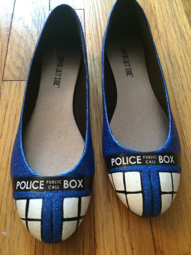 TARDIS shoes - Complete