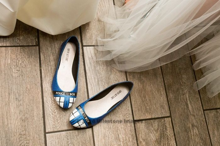 Tardis Wedding Tardis Shoes Wedding 1