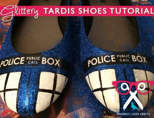 Geek Crafts | Glittery TARDIS Shoes Tutorial