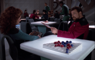 Riker and Troi Do Evaluations