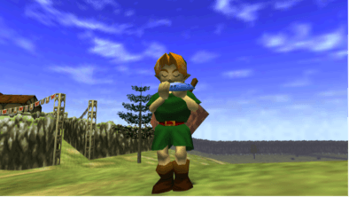 Link playing the Ocarina!