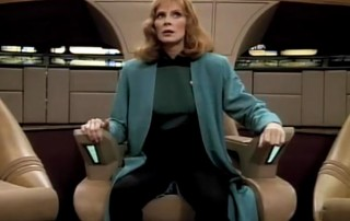 Beverly in the command chair