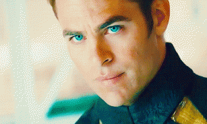Chris Pine as Captain Kirk