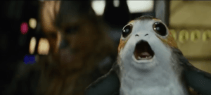 Porgs in the Last Jedi