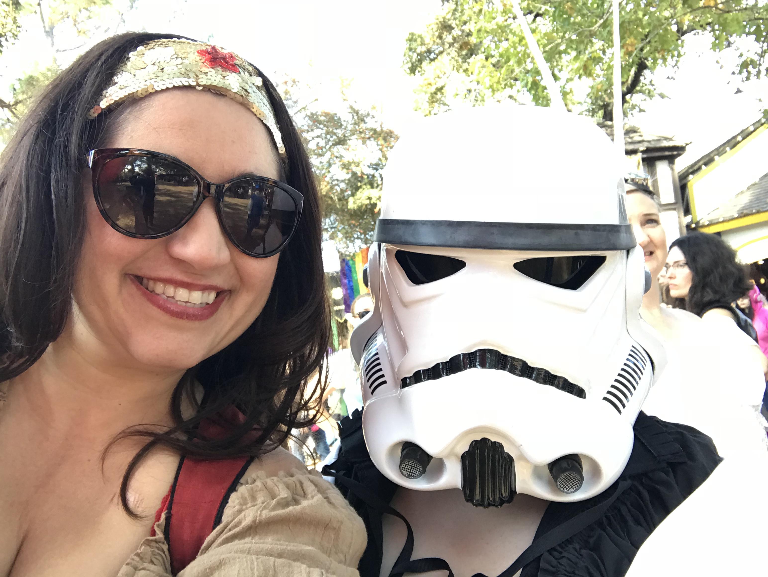 Angela and Storm Trooper